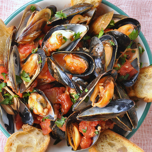 Neapolitan Style Mussels