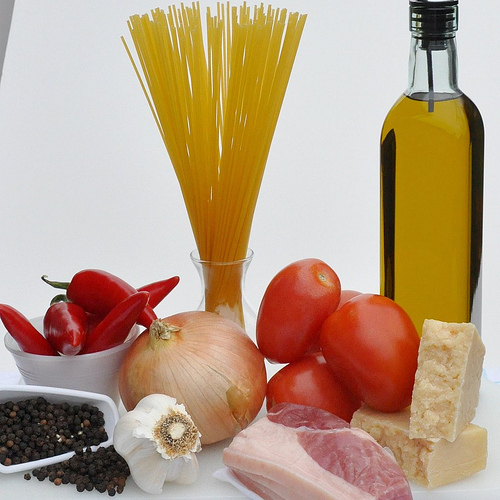 Ingredients in Roman Pasta Dishes