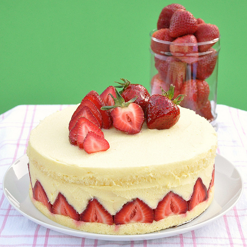Fraisier classic French pastry