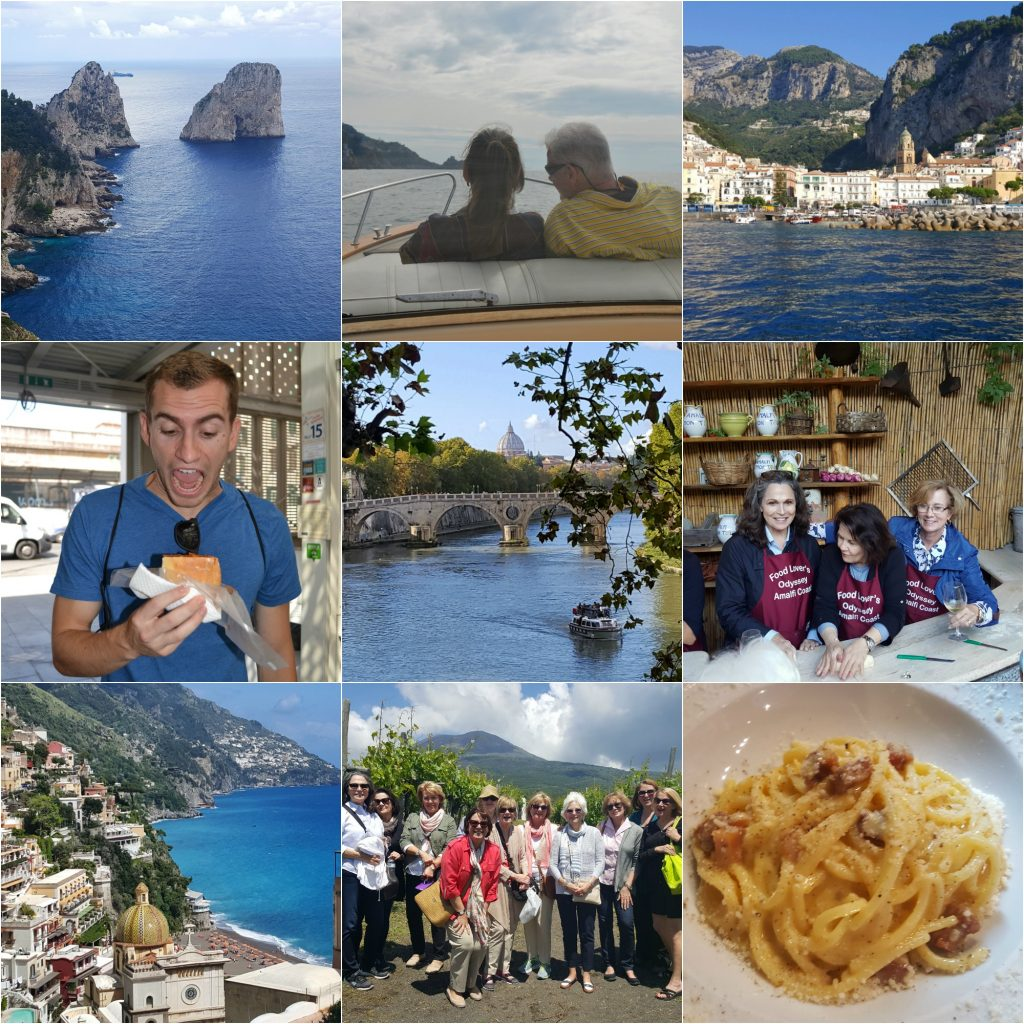 Food Wine Vacations In Rome and Amalfi Coast