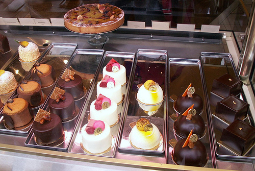 Pastry Case at Laurent Duchene