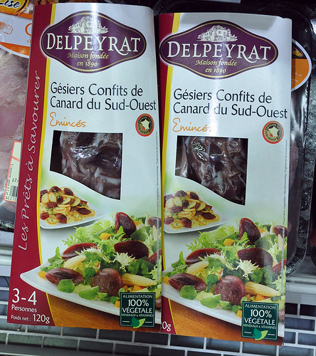 Duck Gizzards Confit at the Dordogne Supermarket