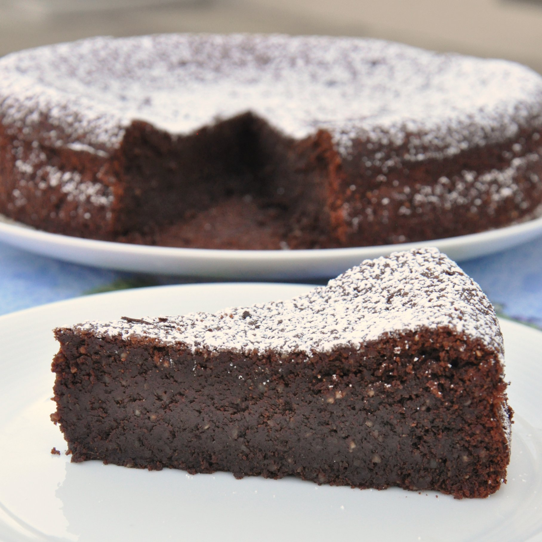 Torta Caprese Flourless Chocolate Cake