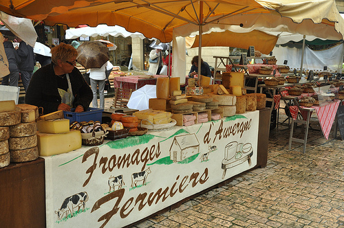 Cheese Stand at Market in Sarlat