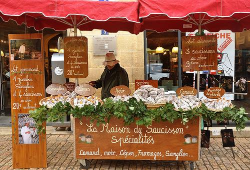 Sausage Stand at Sarlat Market