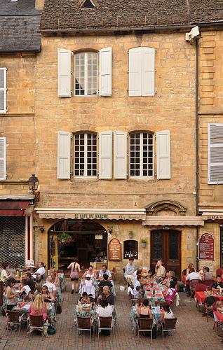 Cafe on the Place de la Liberte in Sarlat