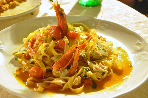 Pasta with Scampi
