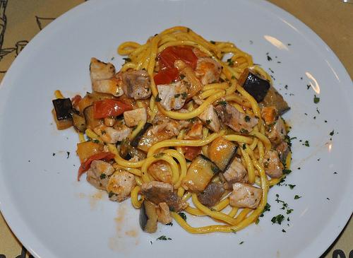Tonnarelle with Swordfish & Zucchini