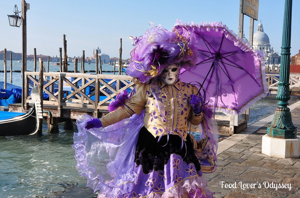 Carnival of Venice costumes and gondolas