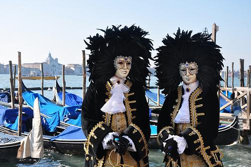 Venice Carnival Costumes and Gondolas
