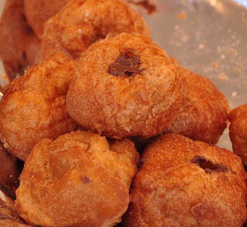 Frittelle Filled with Nutella