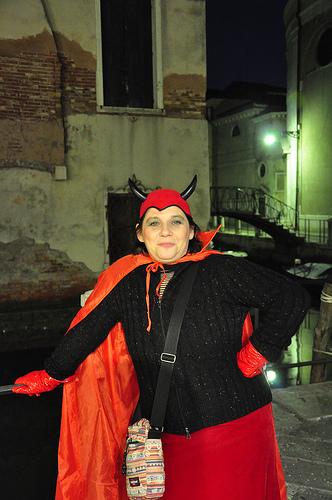 Monica in her Carnival Costume
