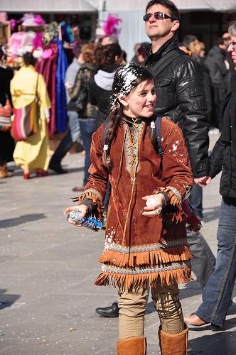Carnival pranks in St Marks Square