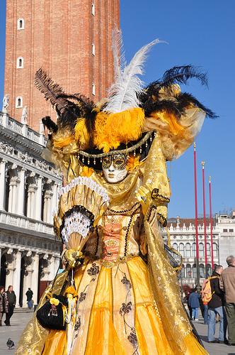 Venice Carnival Costume in St Mark's Square