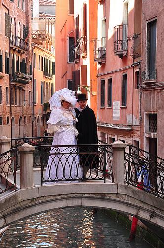 Adults in Carnival Costume in Venice