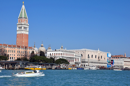 St Marks Square, Doges Palace and the Bell Tower in Venice