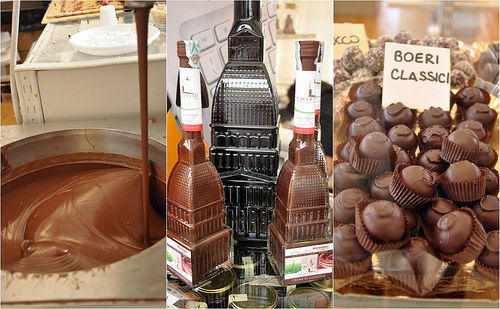 Chocolate, Giandiua Liqueur and Boeri chocolates at Cioccolato