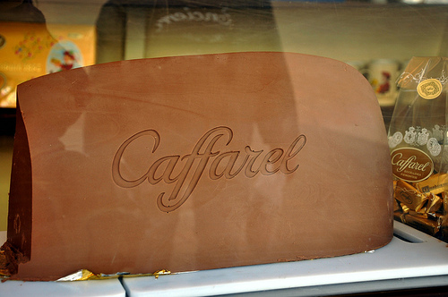 Giant Caffarel Gianduiotto Bar at Cioccolato