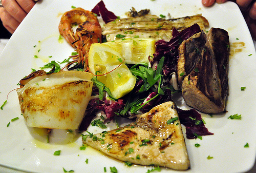 A Mix of Grilled Fish from Antica Latteria in Naples