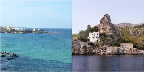 Coastline of Otranto in Puglia and Scolpello in Sicily