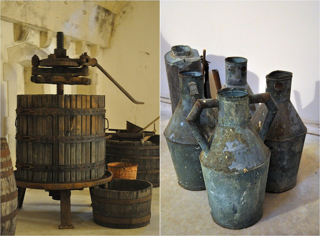 Antique Wine Making Equipment and Jugs