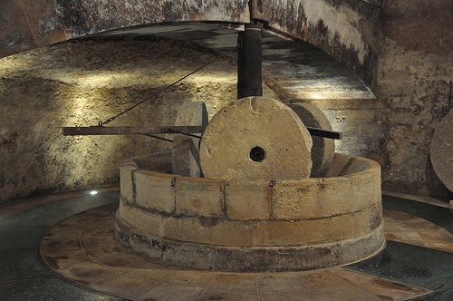Millstone in the Frantoio Ipogeo