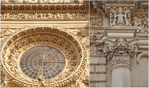 Facade of Basilica Santa Croce in Lecce