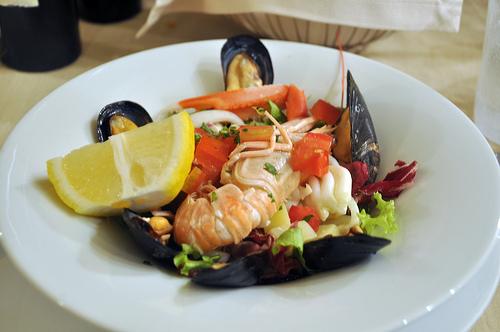 Seafood Salad in the Cinque Terre