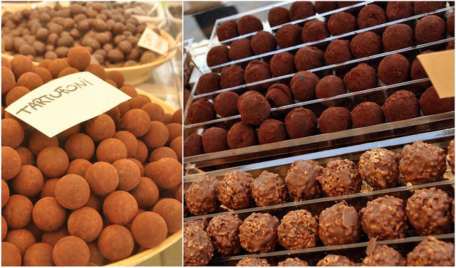 Chocolate truffles - tartufi