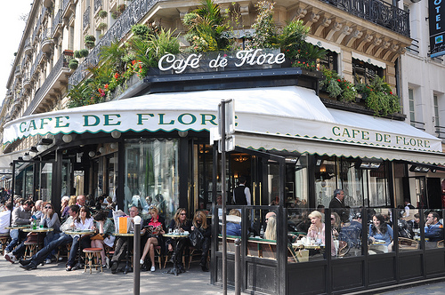 Cafe Flore in Paris