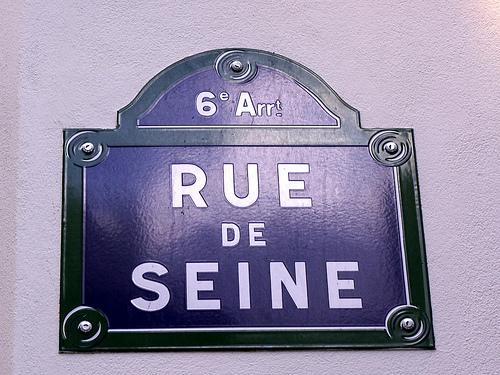 Rue de Seine Street Sign