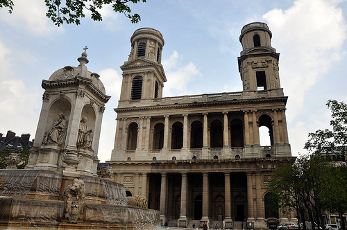 St Sulpice Church in Paris
