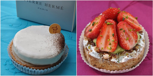 Tart Infiniment Vanilla & Montebello pastries from Pierre Herme