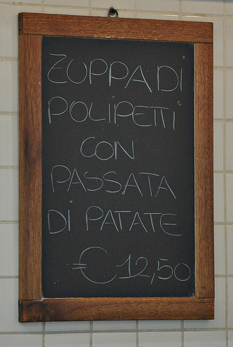 Piatto del Giorno - Plate of the Day in Italy