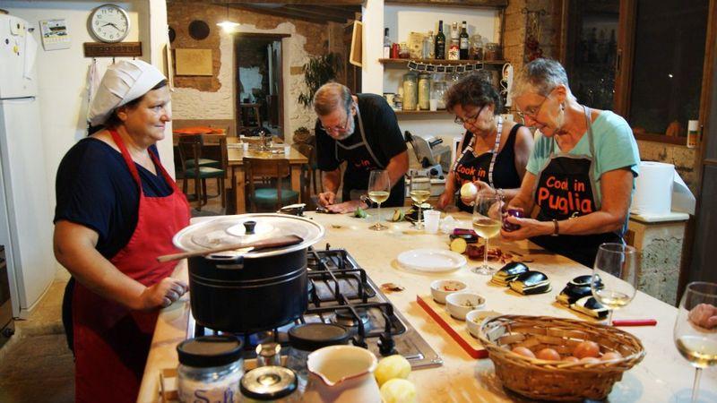 Slicing Eggplant with Mamma Giulia