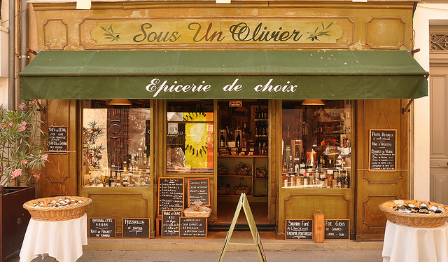 Olive shop in Provence Village