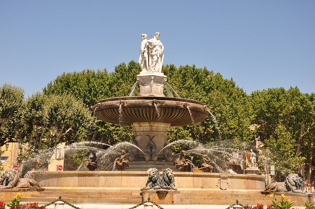Rotonde fountain in Aix-en-Provence