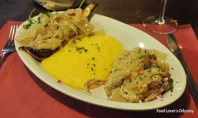 Sarde and Radicchio in Saor with Polenta