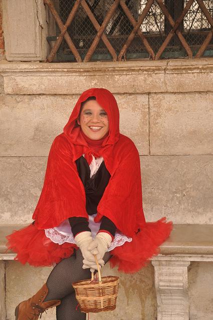 Monica Cesarato in costume Venice Carnival