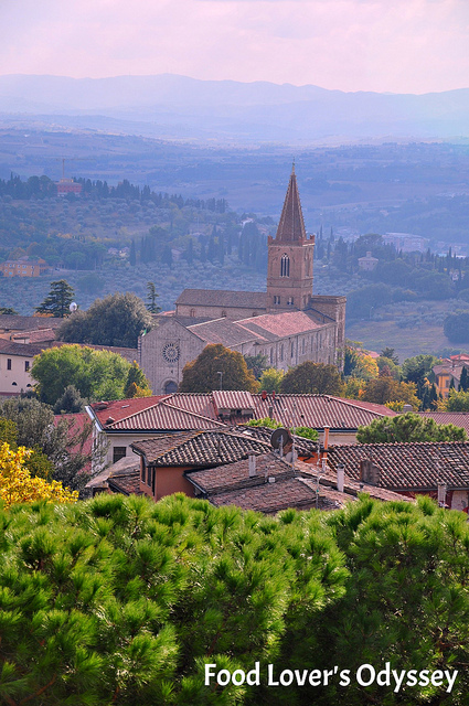 Hilltop view of Perugia