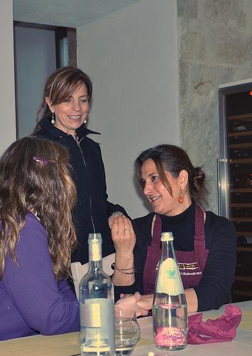 Claudia and I talking food in Puglia