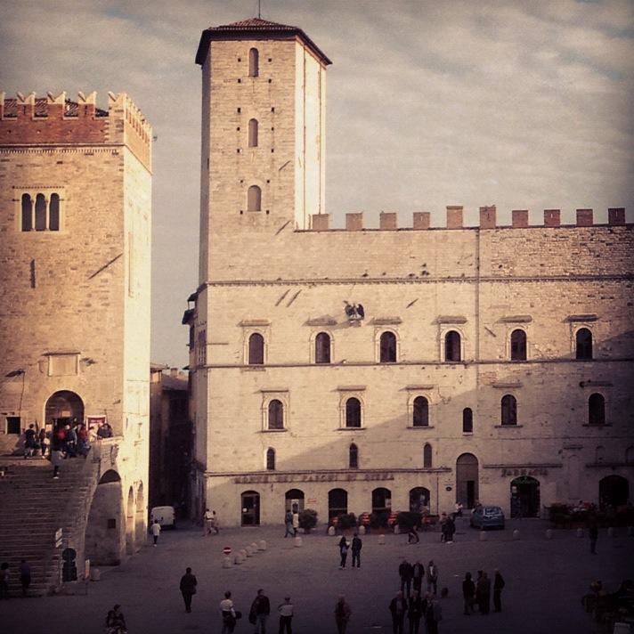 Piazza del Popolo in Todi Italy