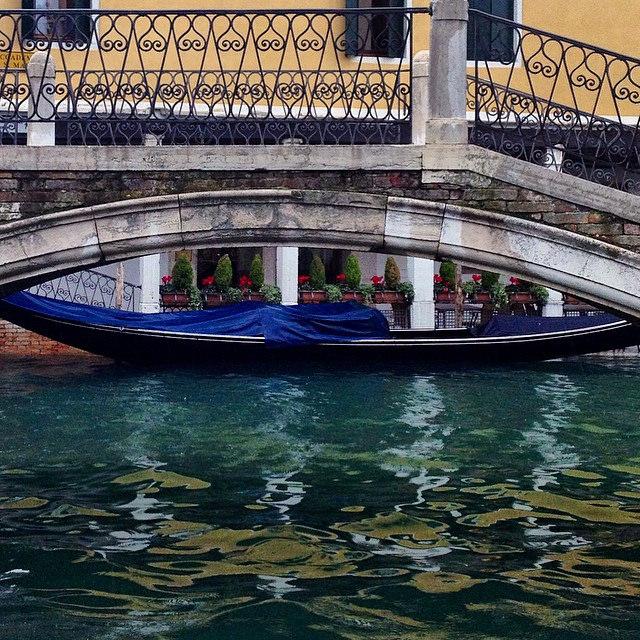 Gondola canal and bridge Venice