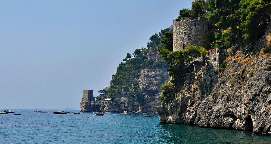 Amalfi-Coast-towers-and-coastline