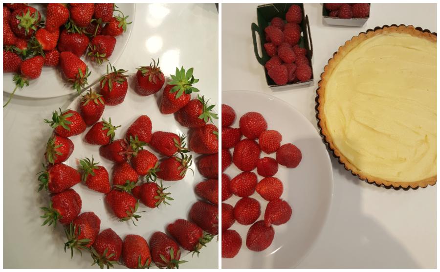 Assembling the French Strawberry Tart